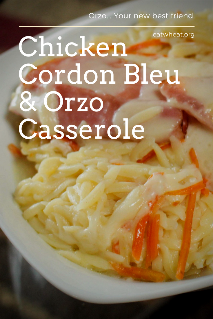 Chicken Cordon Bleu & Ozo Casserole ready to serve to guests
