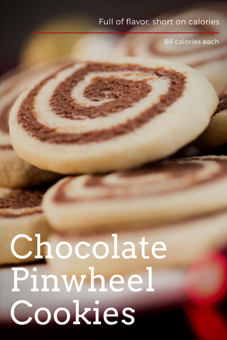 Chocolate pinwheel cookies are full of flavor, short on calories