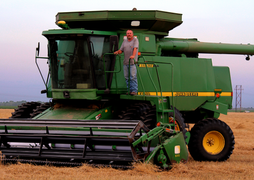 A Kansas combine taking a break during wheat harvest. There are many farm machines used to grow your food