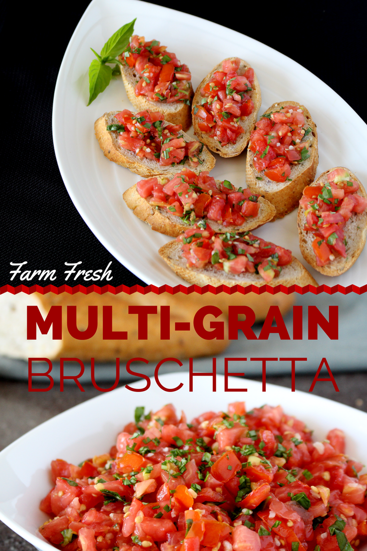 This Farm Fresh Bruschetta Recipe is a quick and easy appetizer that your whole family will enjoy!