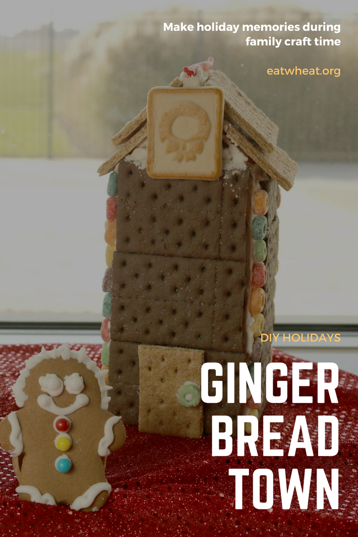 Gingerbread Clock Tower with a gingerbread man
