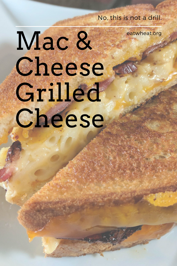 Mac & Cheese Grilled Cheese (with bacon!) is the perfect comfort food ready to be your guilty pleasure.