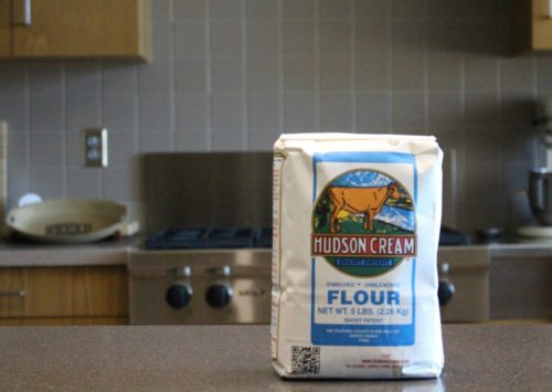 Hudson Cream Flour waiting to be used in a kitchen