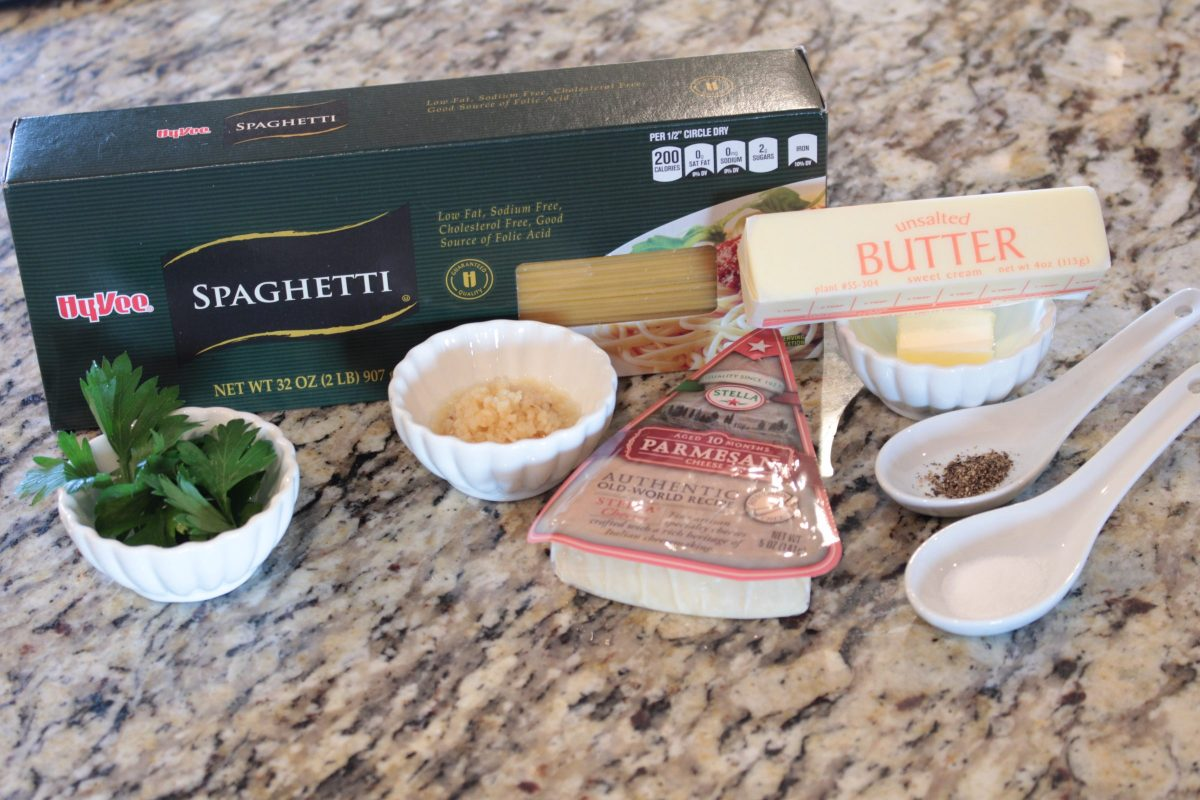 Garlic buttered noodles take only a few ingredients and make for a quick and tasty recipe.