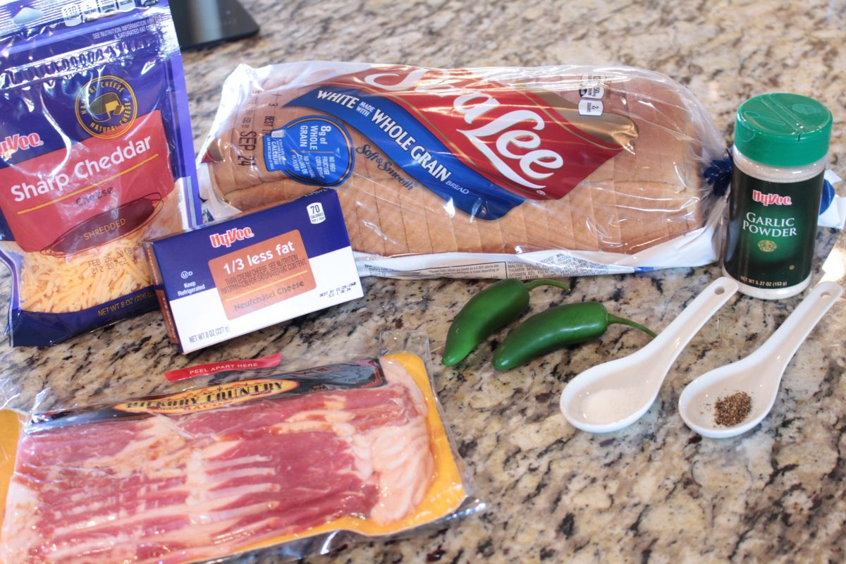 All the ingredients needed for jalapeño popper grilled cheese