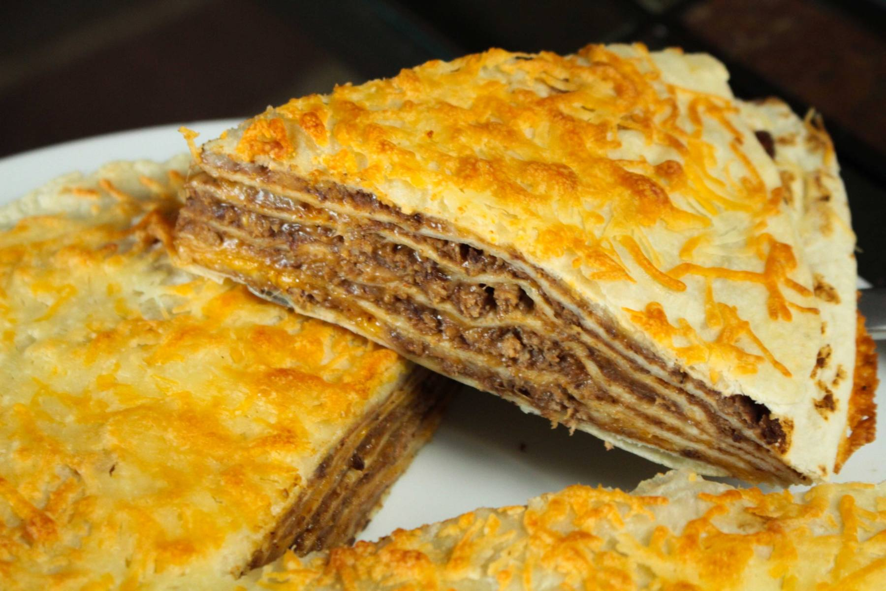 Quick Amp Simple Layered Taco Casserole Recipe Eat Wheat
