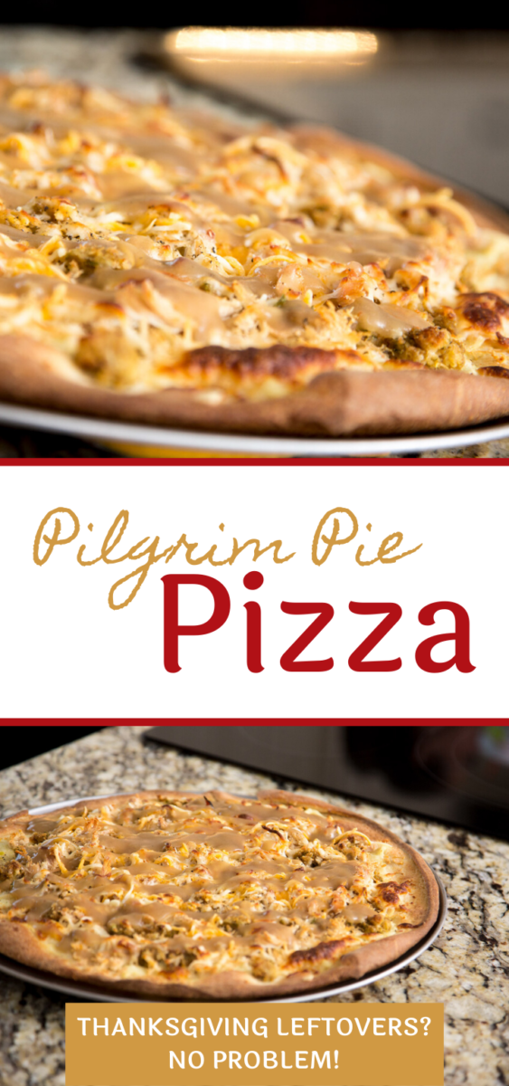 Pilgrim Pie Pizza is a perfect use of your Thanksgiving leftovers.