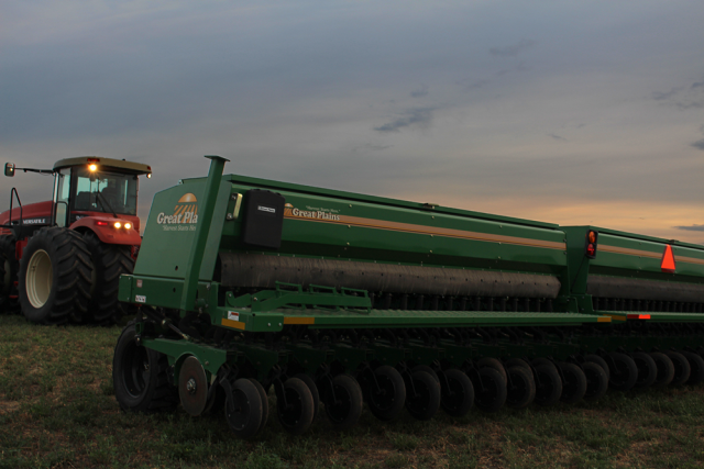 Wheat drill.