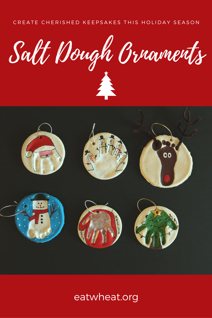 Salt Dough Ornaments are an easy keepsake to make with your kiddos!
