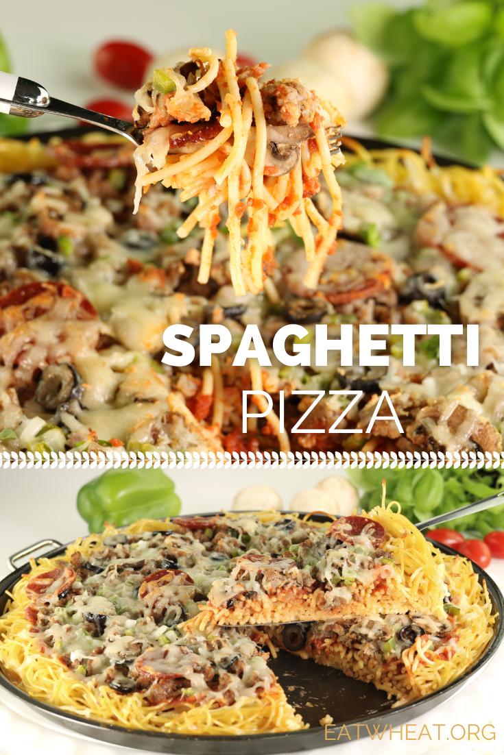 Image: Spaghetti Pizza.