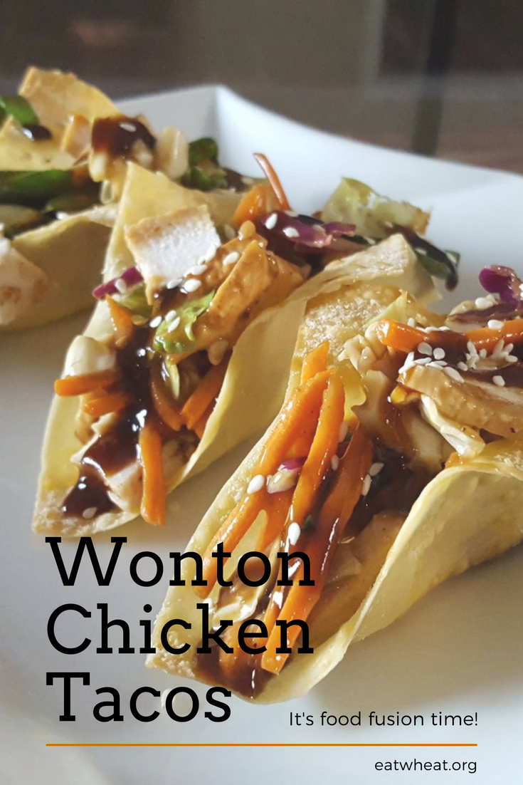 These Wonton Chicken Tacos are easy to make... Just 5 simple steps!