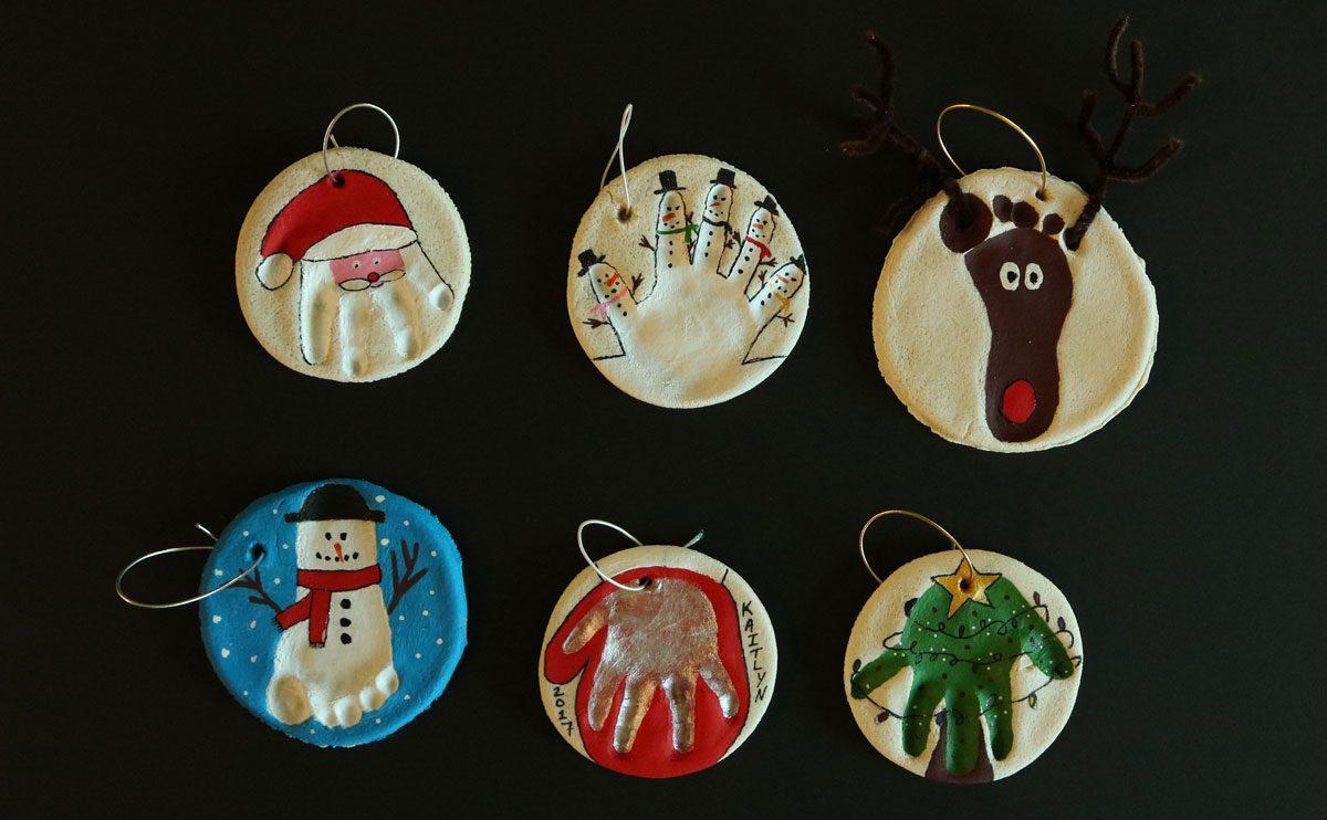 Diy Ornaments Create Holiday Memories With Salt Dough Handprints