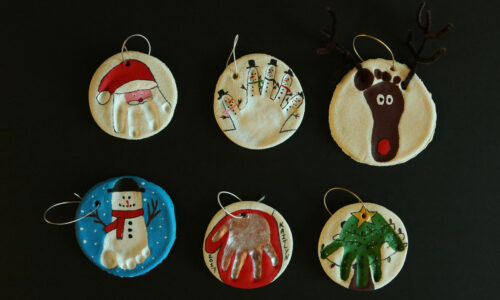 Easy DIY ornaments: Santa, Snow Man, Mitten, Christmas Tree and Reindeer