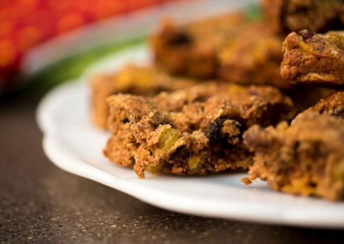 Sugar free cookies fruitcake bars.