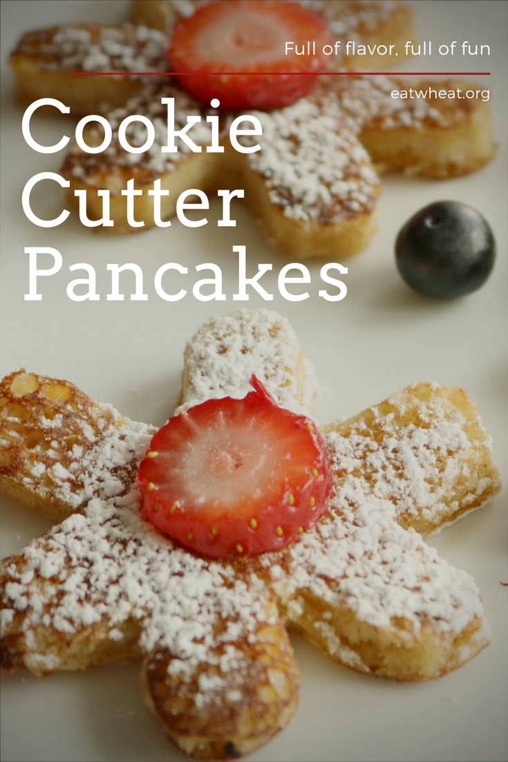 Cookie cutter pancakes are an easy way to spice up a Christmas morning breakfast!