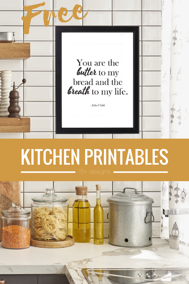 picture relating to Free Kitchen Printables identified as Free of charge Kitchen area Printables Obtain Previously! Take in Wheat