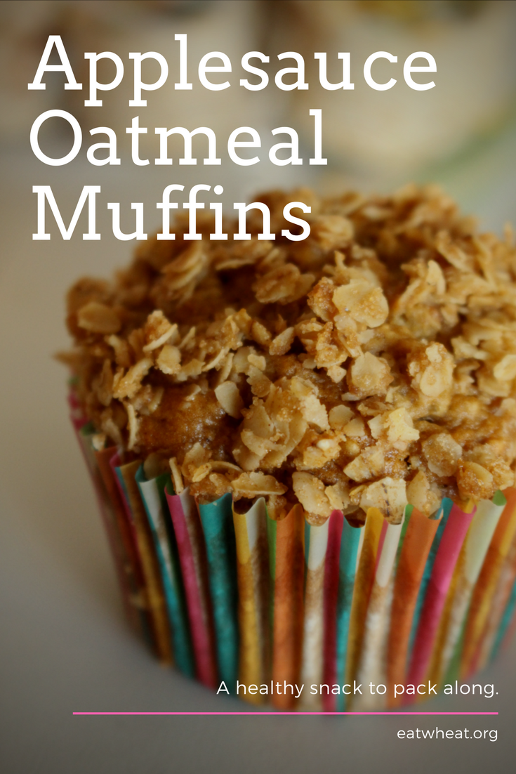 Applesauce Oatmeal Muffins are a great snack that you can pack in bookbags and lunchboxes.