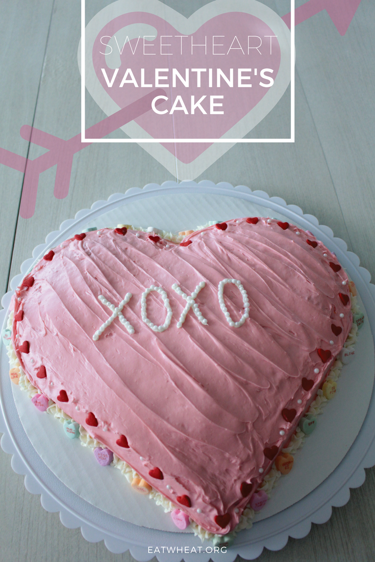 Conversation Heart Cake is the perfect recipe for your Valentine!