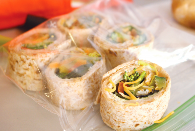 Photo: Pinwheel wrap snack.