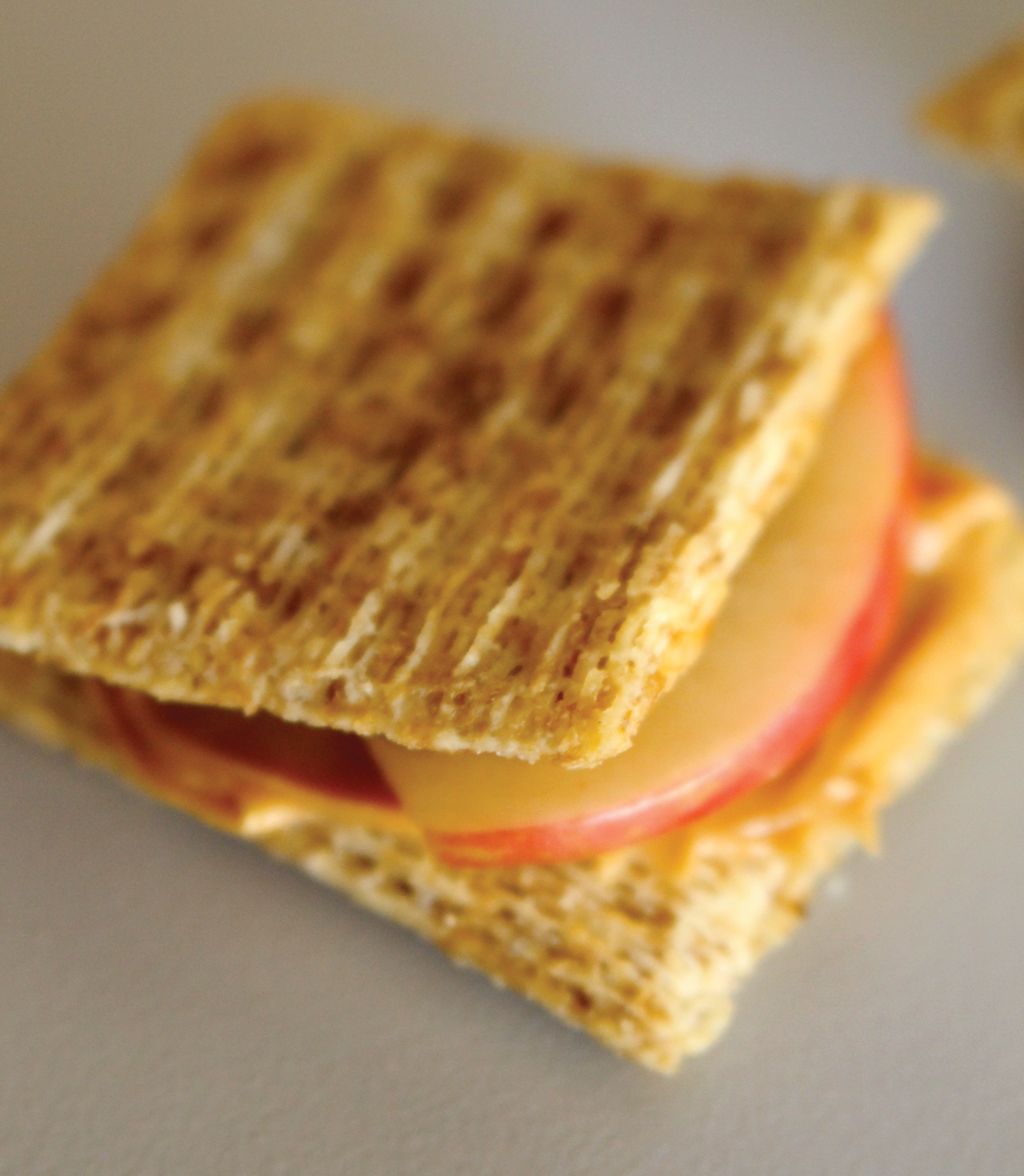 Photo: Whole grain cracker sandwich.