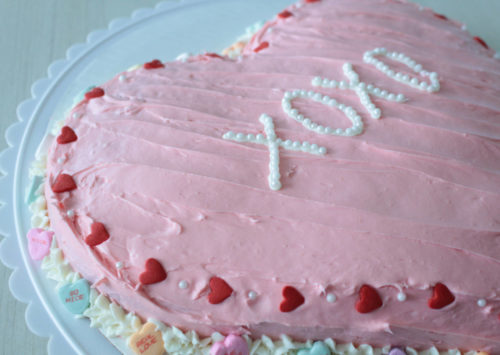 Photo: Conversation Heart Cake.