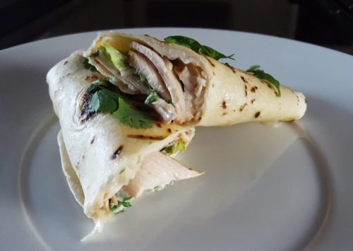Photo: Grilled Chicken Ranch Wraps.