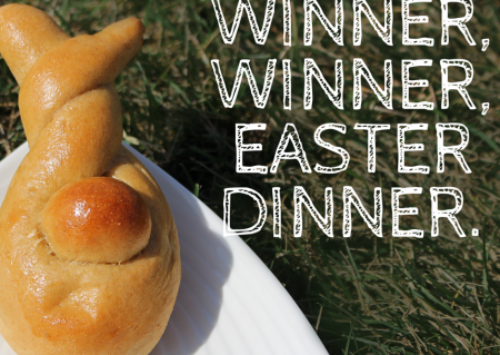 This twist bunny is the easiest and best Easter roll shape.