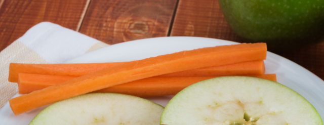 Photo: Carrots and apples.