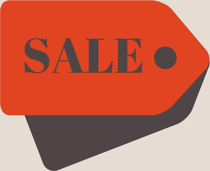 Image: Sale sign.