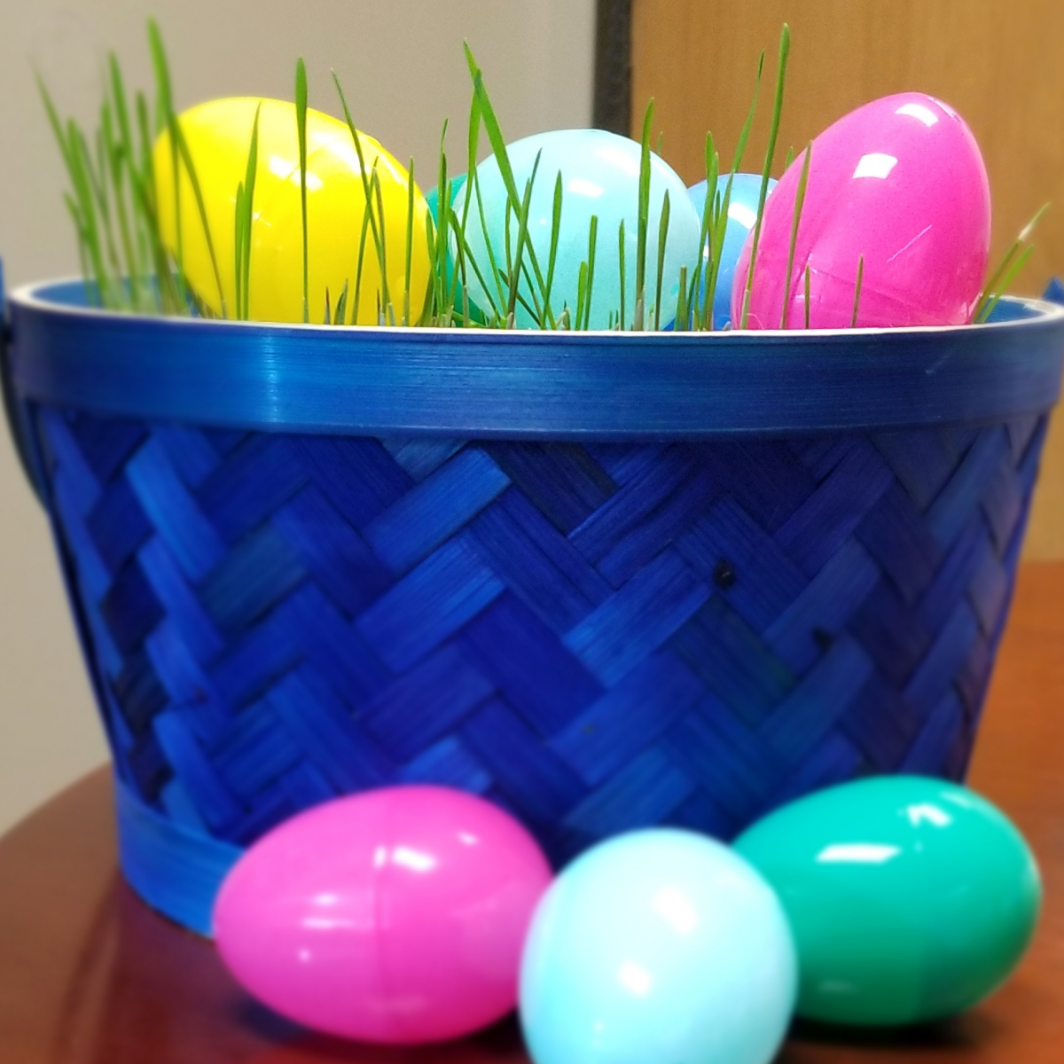 Photo: Wheat Grass Easter Basket.