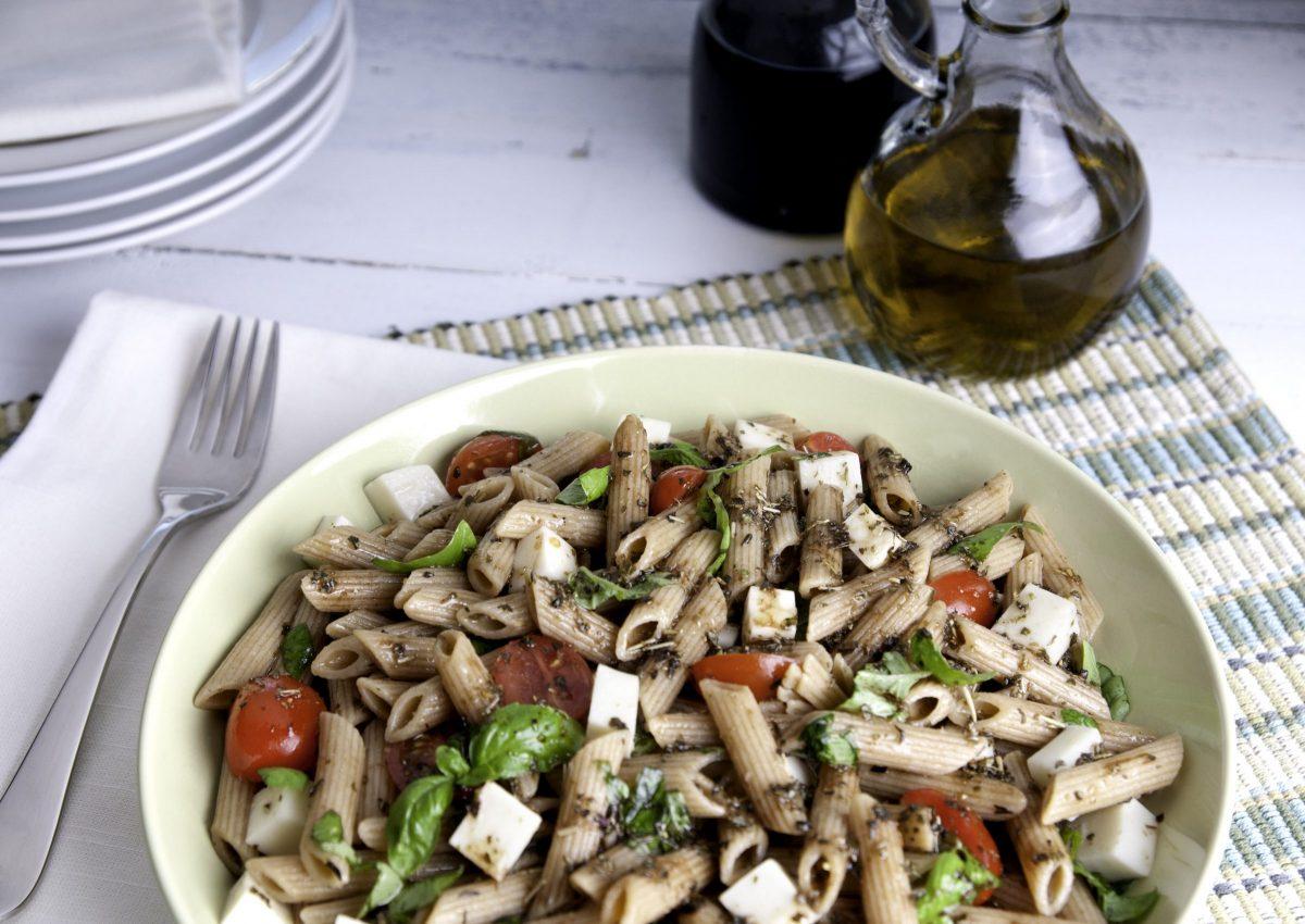 Photo: Caprese Pasta Salad.