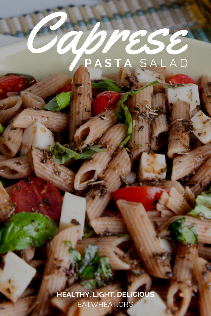 Caprese Pasta Salad is a deliciously healthy addition to any menu!