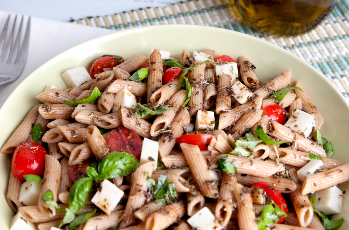 Photo: Whole Wheat Caprese Pasta Salad.