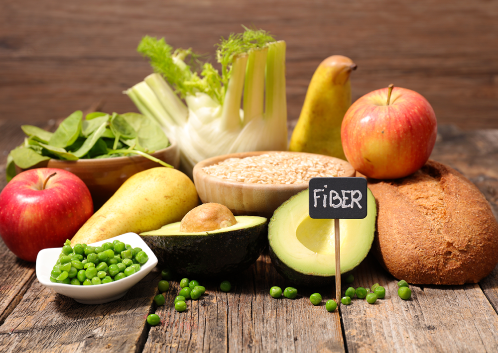 Photo: Foods rich in fiber. Healthy eating.