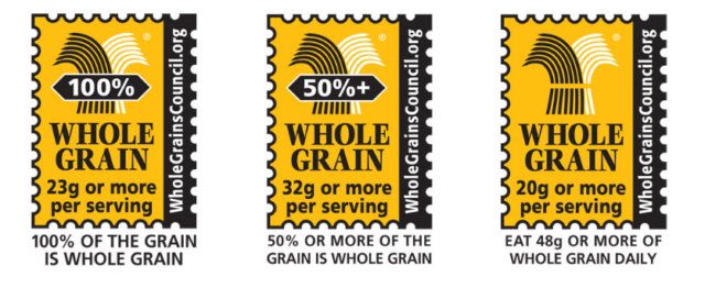 Image: Whole grain stamps.