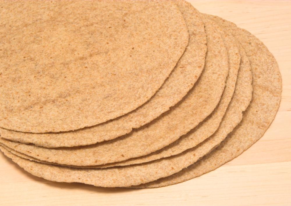 Photo: Whole wheat tortillas.