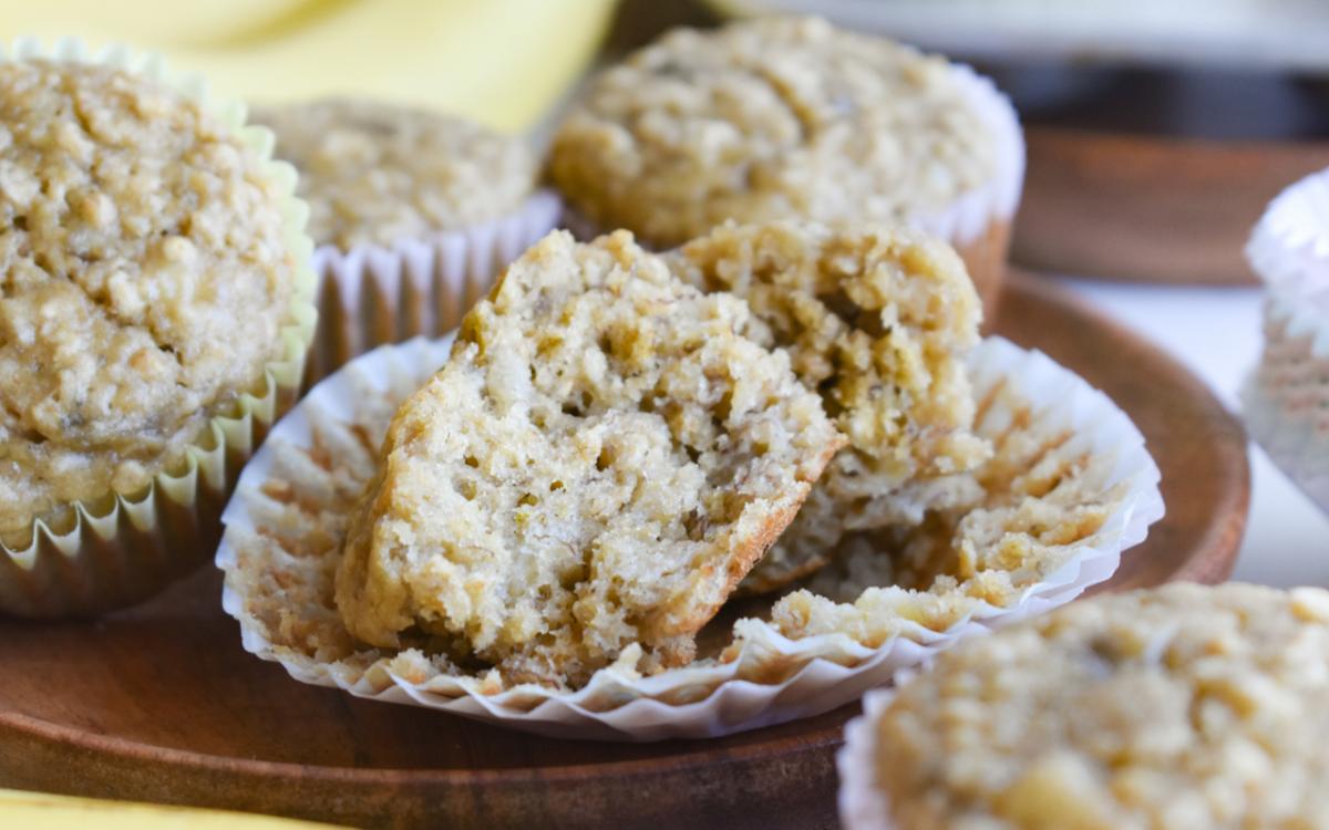 Photo: Banana Oatmeal Muffins.