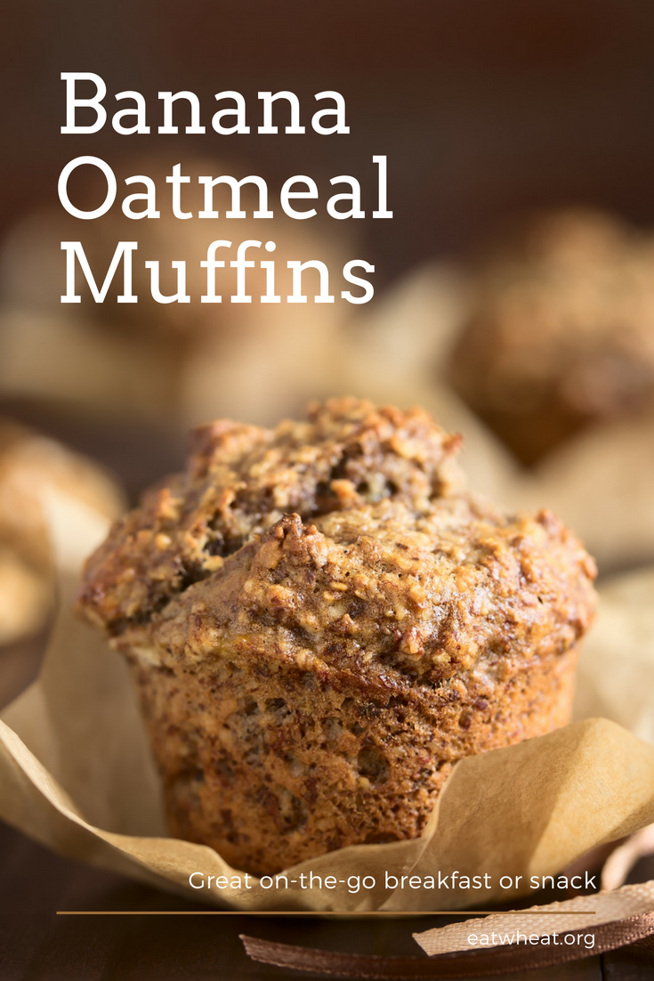 Banana Oatmeal Muffins are a delicious, healthy snack the whole family will enjoy!