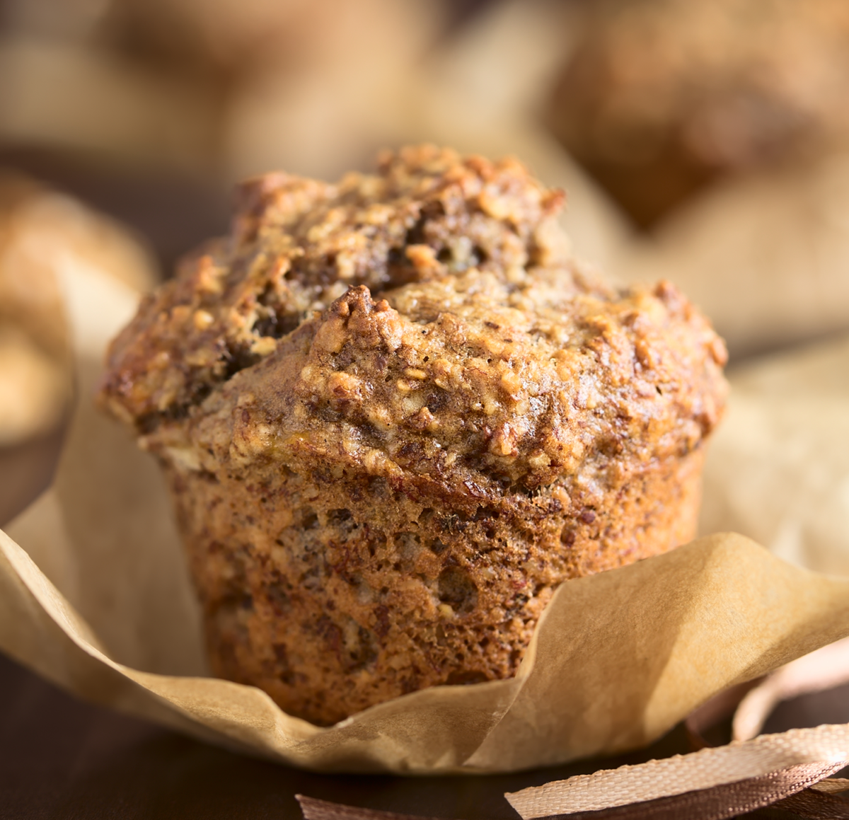 Photo: Banana Oatmeal Muffins.