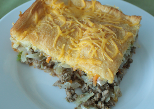 Photo: Bierock Casserole slice.