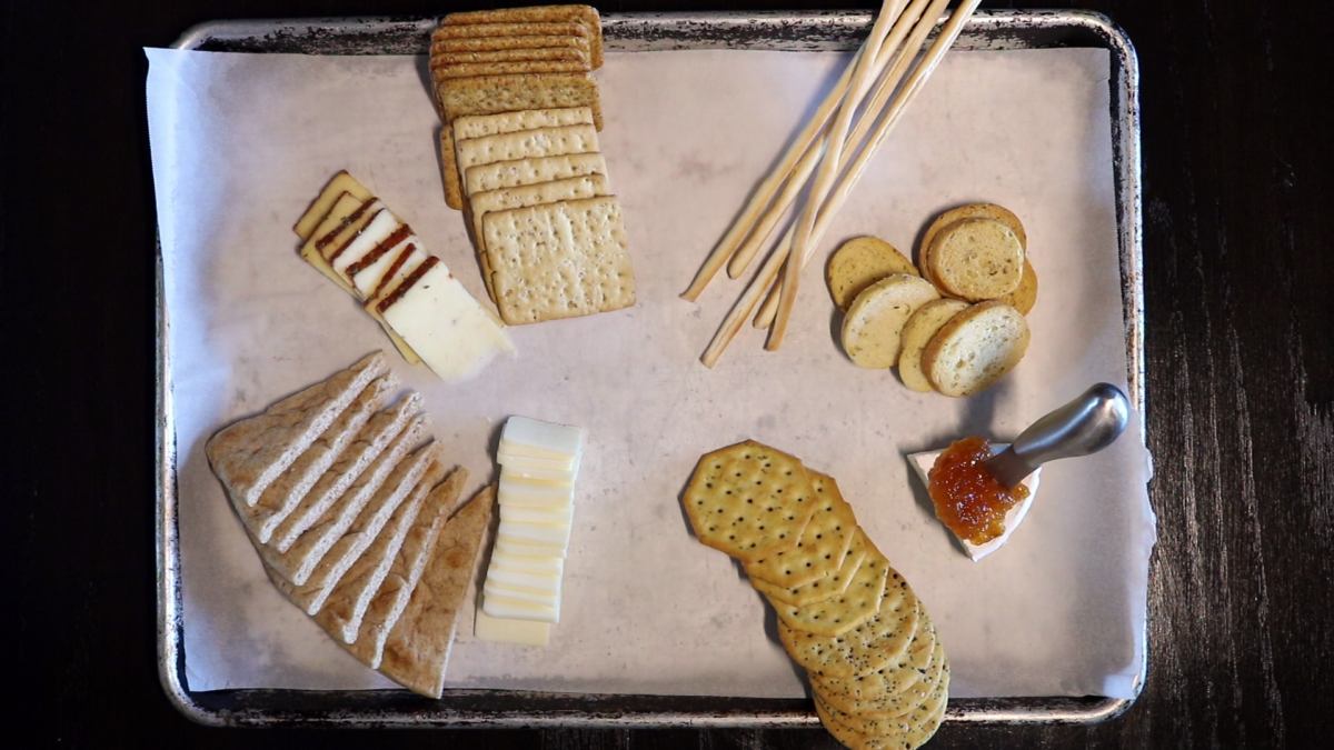 Photo: Charcuterie - Cheeses on tray.