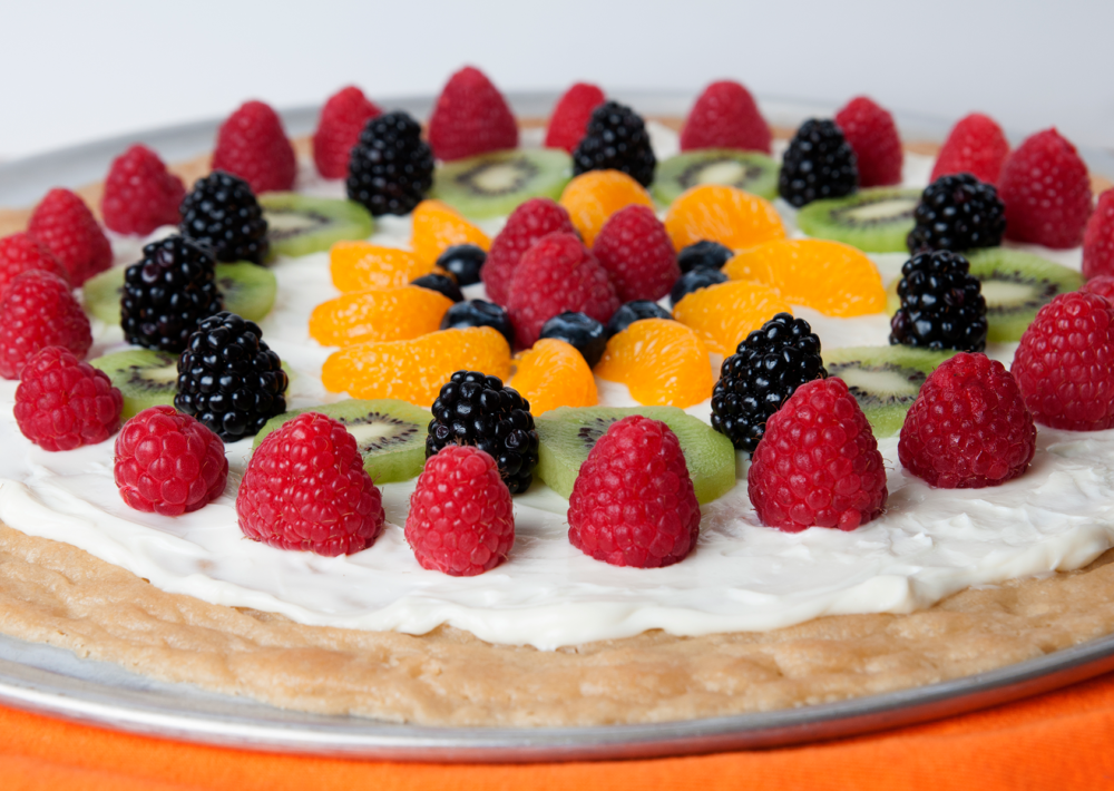 Photo: Fruit dessert pizza.