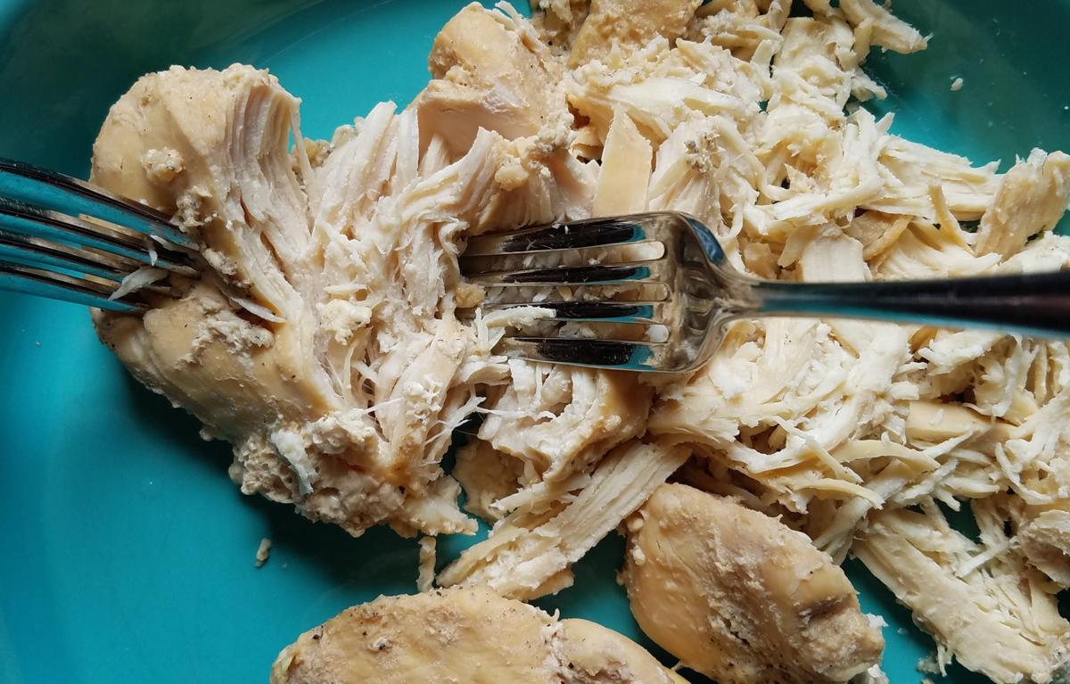 Photo: Shredded chicken.