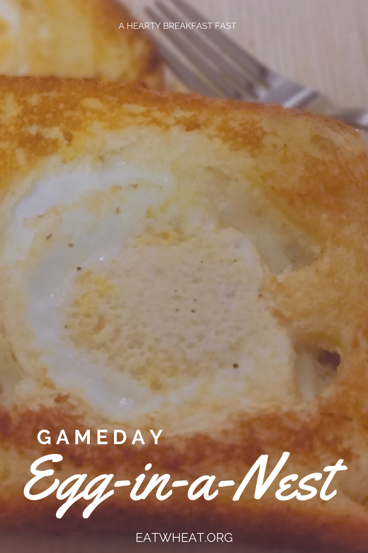 Gameday Egg in a Nest is a quick, easy and hearty breakfast! Toasted bread and fried eggs are a delicious combination to kick off your game day celebrations. Use sports-themed cookie cutters to add a festive flair.