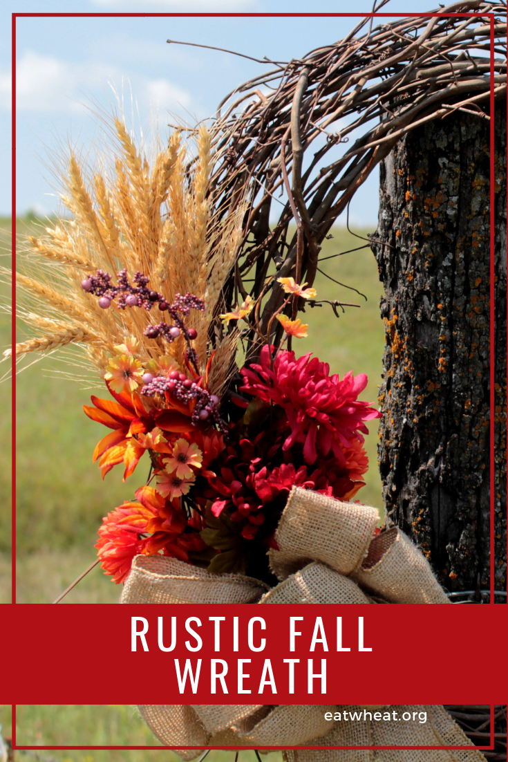 Rustic fall wheat wreath | eatwheat.org