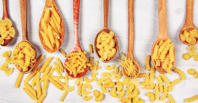 Photo: Types of pasta.