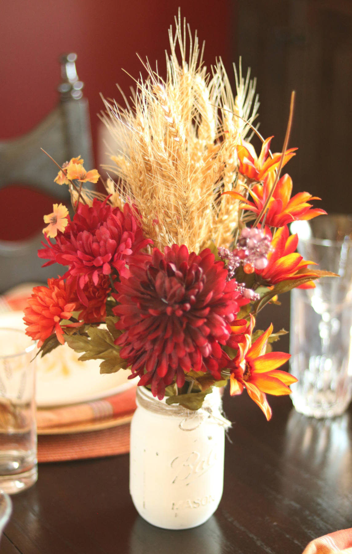 Photo: Fall Thanksgiving wheat centerpiece.