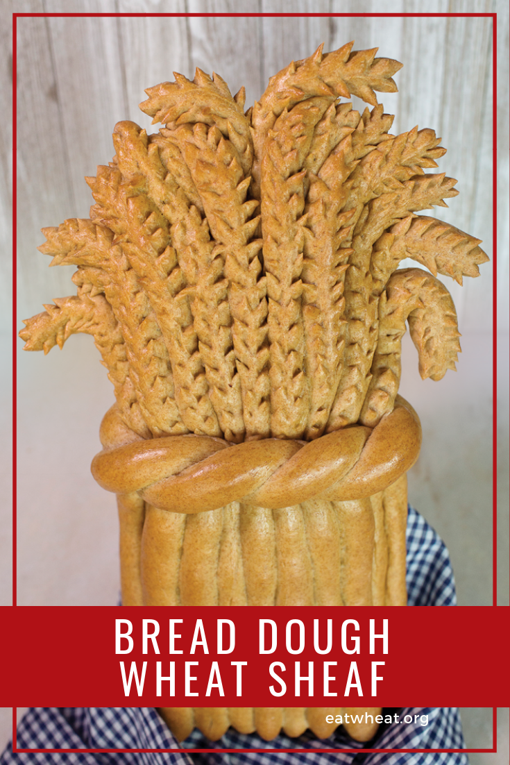 Wheat sheaf fall decoration, made from bread dough | eatwheat.org