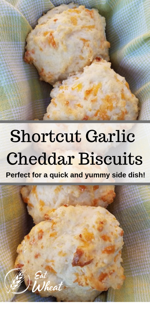 Looking for a quick side to serve alongside a bowl of steamy soup or your next family meal? Shortcut garlic cheddar biscuits are quick and easy to make and are bursting with flavor. | eatwheat.org