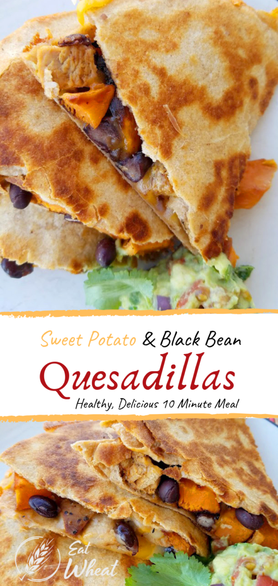 Sweet Potato Black Bean Quesadillas can easily be customized by adding additional vegetables or other protein sources such as chicken, pork, or beef! This recipe is filled with fiber AND flavor!